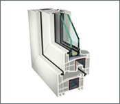 GEALAN S 8000 – rovný profil, 2 skla