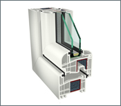 GEALAN S 8000 – oblý profil, 2 skla