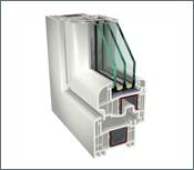 GEALAN S 8000 – oblý profil, 3 skla