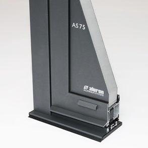 AS 75 - Moderní okenně-dveřní systém